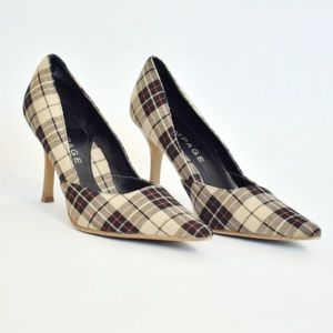 Plaid Pointed Toe Heels-Size 8.5 Rampage